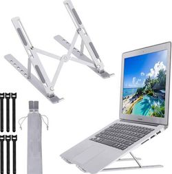Adjustable Laptop Stand,Laptop Riser Tablet Stand Aluminum Laptop Holder, Notebook Mount 6-Angles Ergonomic Ventilated Cooling Portable Computer Stand for Sale in San Dimas, CA