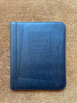 Saint marys college leather portfolio + notepad for Sale in Castro Valley, CA