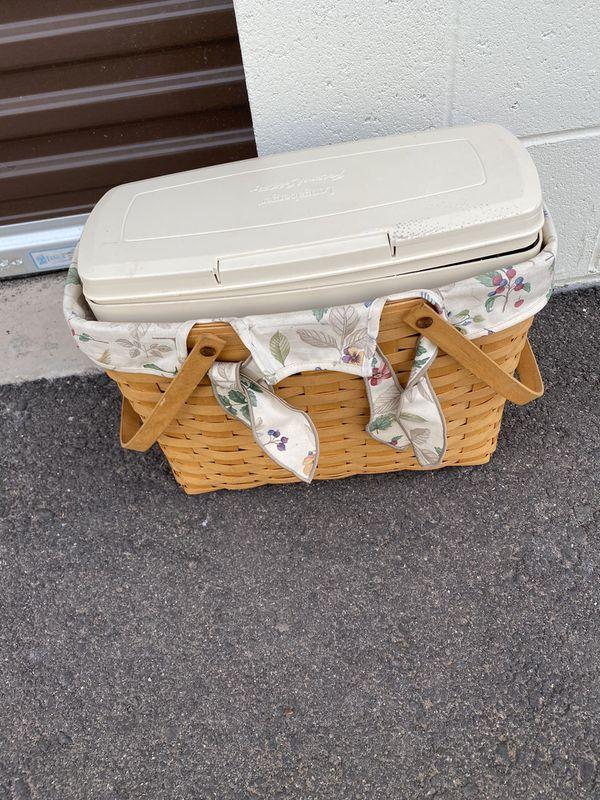 Longaberger basket with insert