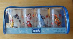 Vintage Anchor Hocking Winnie the Pooh 4 Juice Glass Set Disney for Sale in Hampton, VA