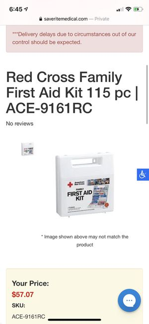 American Red Cross 115 Piece Family First Aid Kit for Sale in Snoqualmie, WA