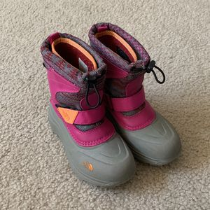 Kids North Face Snow Boots Waterproof Winter Shoes Pink Size 13 Girls for Sale in Dallas, TX