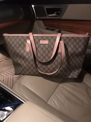 Gucci canvas and pink leather tote bag for Sale in Pacifica, CA