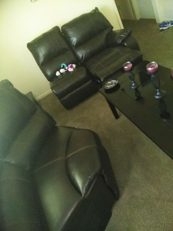 Ashley sectional and end tables and whirlpool washer and dryer