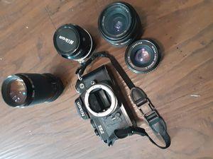 Nikon FE2 w/4 lenses for Sale in Spokane, WA