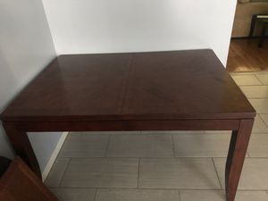 Dark Brown Kitchen Table with 6 chairs for Sale in Frederick, MD