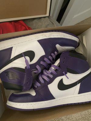 Size 10 Jordan court purple 1 for Sale in Richmond, VA