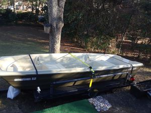 12 ft. American Jon boat, cover, troller, anchor, winch and 2 paddles for Sale in Montgomery, AL
