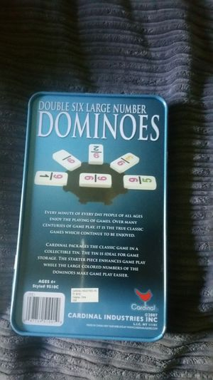 Dominoes game with numbers. For 4 Years Old up for Sale in Austin, TX