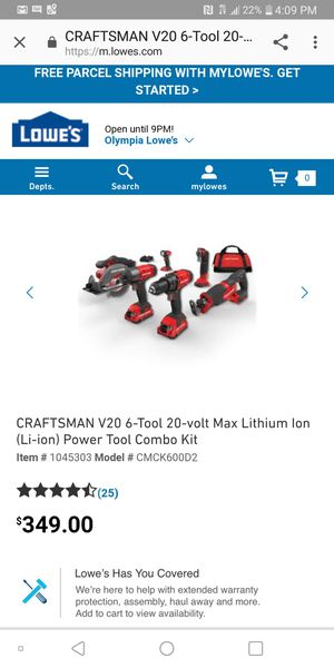 Craftsman power tool combo kit for Sale in Tacoma, WA