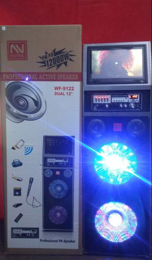 New Bluetooth speaker sd card slot usb port fm radio microphone included for karaoke many more available ( bosina ) for Sale in March Air Reserve Base, CA