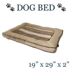 Fur and Micro Mink Crate May Dog Bed Pet Bed for Sale in Ontario, CA