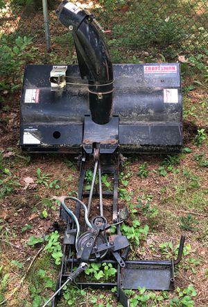 "Craftsman 42"" front mounted snowblower attachment for lawn tractor for Sale in Hermon, ME"