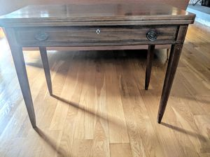 Antique walnut writing desk/folding card table for Sale in Purcellville, VA