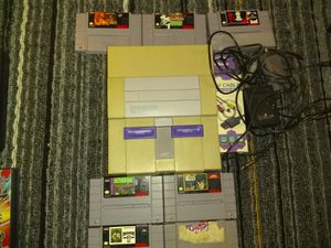 Super Nintendo one controller 7 games for Sale in West Valley City, UT