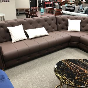 Brown Leather Sectional - Delivery Available 🚚 for Sale in Dallas, TX