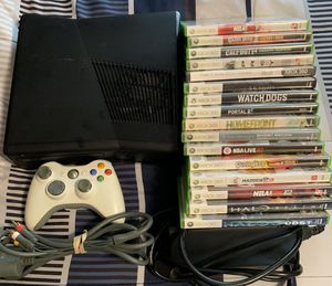 Xbox 360 S w/16 games for Sale in Beaufort, SC