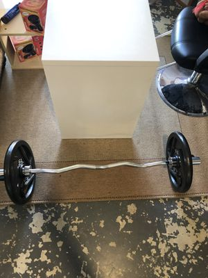 Olympic Curl Bar & weights for Sale in Hillsboro, OR
