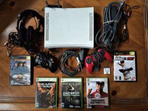 Xbox 360 + 2 Controllers + Headset + WiFi + 5 Games for Sale in Woodstock, GA