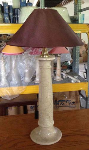 Marble carved desk lamps H 18 inch for Sale in Chandler, AZ