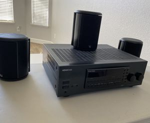 Kenwood KR-V7080 Audio Video Surround Sound Stereo Receiver with 3 Infinity Speakers for Sale in Tracy, CA
