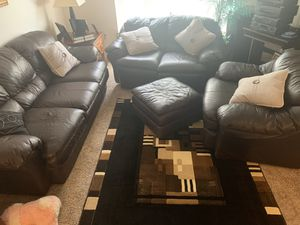 Leather couch for Sale in Lincoln, NE