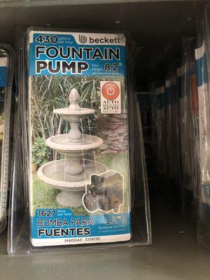 New Beckett Fountain pump 430 gallons per hour for Sale in Chesapeake, VA