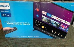 """Brand New Philips TV! 50"""" inch open box w/ warranty 75YCQ for Sale in Fort Worth, TX"""