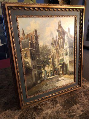 Hendrik Ten Hoven (Dutch b.1901 24x20 signed H. ten Hoven Dutch Street scene, oil on canvas for Sale in Gilbert, AZ