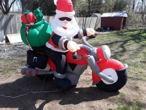 Harley Davidson inflatable Santa Claus for Sale for sale  Yardley, PA