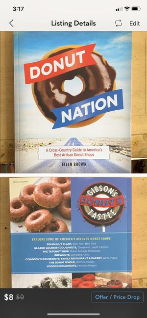 Donut Nation Cookbook and Travel Book for Sale in Guilford, CT