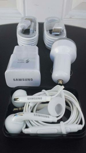 Samsung Combo Bundle/Brand New Original Samsung Fast Charger and Car Charger and Samsung Headphones for Sale in National City, CA