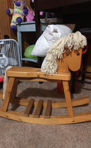 Solid wood baby rocking horse for Sale in Rockville, MD