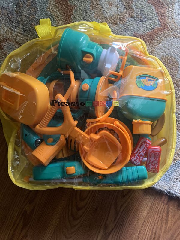 Large bag of new toys for sand box
