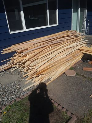 Firewood. Over 500 8 foot 1x2 pine boards. Great kindling for Sale in Tacoma, WA