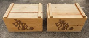 """2 Authentic VITA COCO Wood Cooler Crates Rare Nice! 18""""X 12.5"""" X 10.5"""" for Sale in Lake Elsinore, CA"""