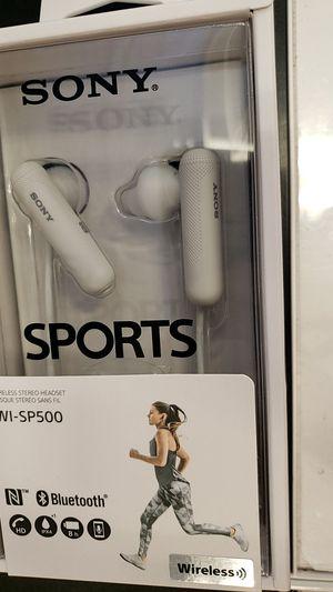 Sony wi-sp500 wireless bluetooth earphones earbuds for Sale in Houston, TX