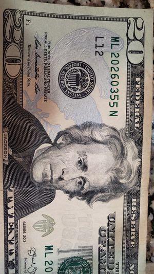 Error 20$bill for Sale in Portland, OR