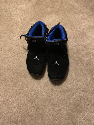 Air Jordan Retro 18s Black Royal Blue size 6 Boys for Sale in Clinton, MD