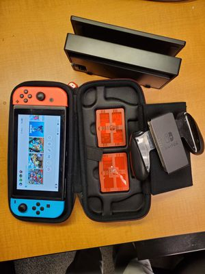 Nintendo Switch with Extra ACCESSORIES ( PRICE FIRM) for Sale in Falls Church, VA