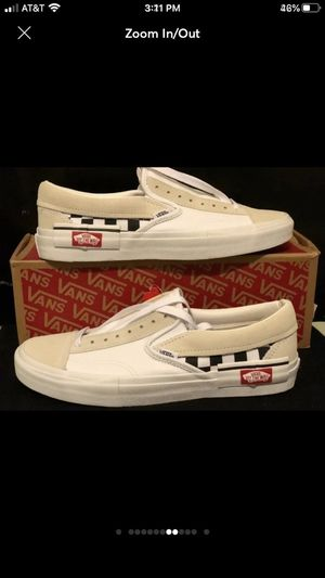 Vans Slip-On Cap Checkerboard shoe size 8 for Sale in Brooklyn, NY
