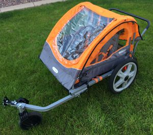 InStep Double Bike Trailer, 20 inch wheels, folding frame for Sale in Peoria, AZ