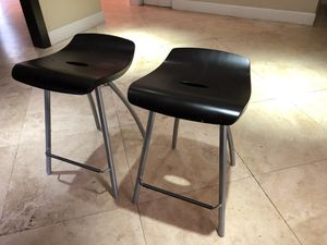 Mixed Media set of 2 counter stools for Sale in Miami, FL