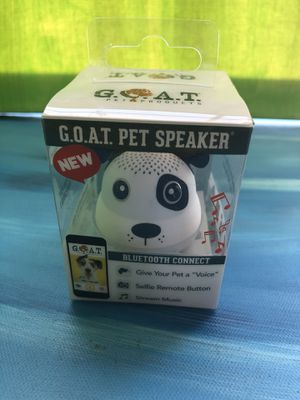 G.O.A.T. PET SPEAKER PET VOICE MUSIC Bluetooth connect for Sale in Las Vegas, NV