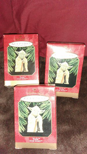 3 nib Yoda ornaments for Sale in Pittsburgh, PA
