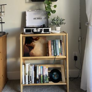 Wood Bookshelf/ Vinyl Record Stand for Sale in Scottsdale, AZ