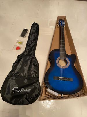 Blue Guitar By Best Choice Products 39in Beginner Guitar Set for Sale in Boca Raton, FL