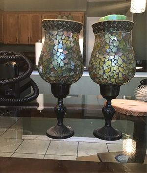 Mosaic candle holders for Sale in San Antonio, TX