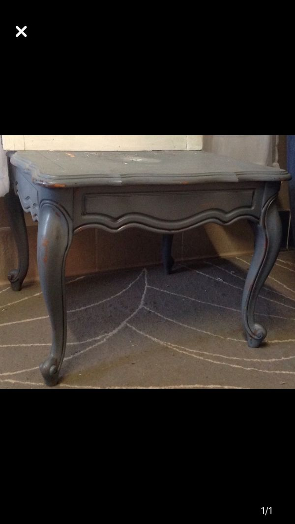 Small gray side table