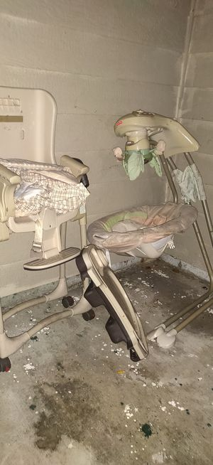Baby swing and high chair for Sale in Spanaway, WA